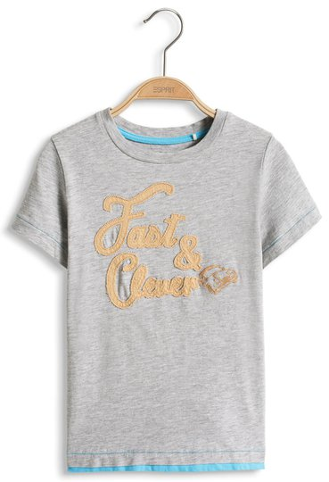 ESPRIT Fast & Clever T-skjorte, Medium Grey 104