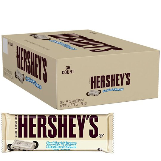 "Hel Låda ""Cookies 'n' Creme Bar"" 36 x 43g - 87% rabatt"