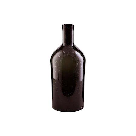 Vase Flaskehals Mørkebrun 35cm