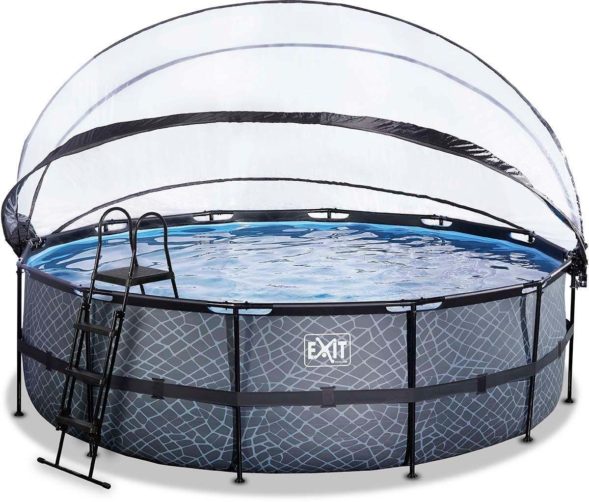 EXIT Pool med Kupol 488 cm, Grå