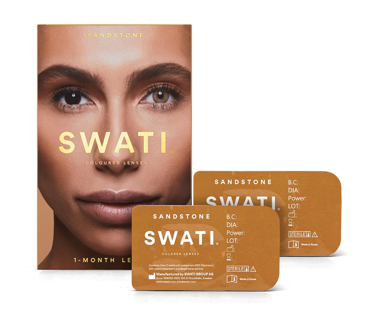 SWATI - Coloured Contact Lenses 1 Month - Sandstone