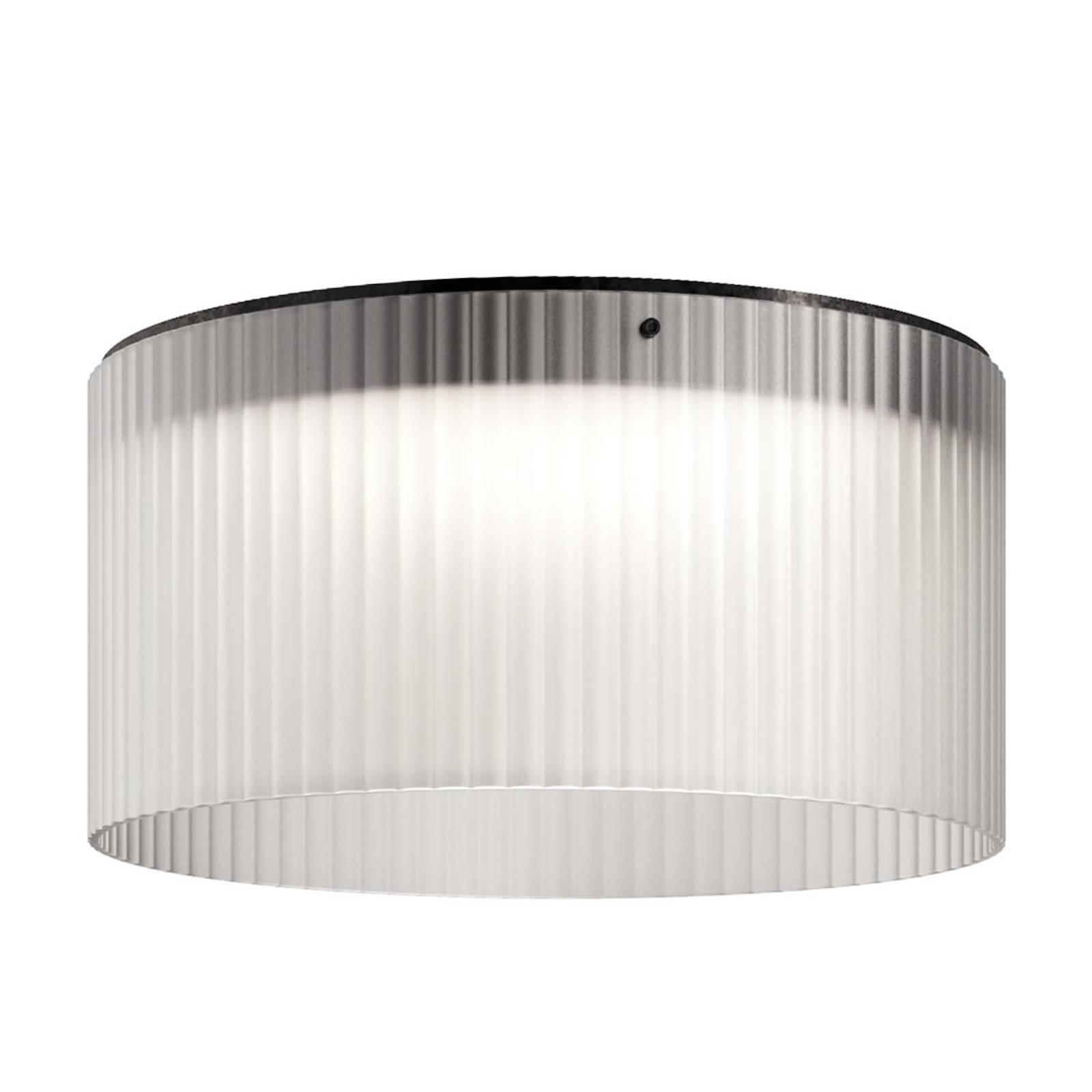 Kundalini Giass -LED-kattovalaisin Ø50cm valkoinen
