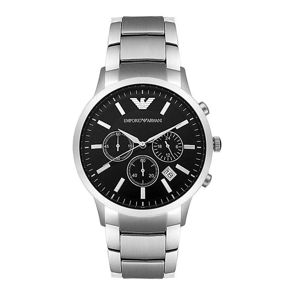 Emporio Armani Men's Two-Hand Stainless Steel Watch Black AR2434