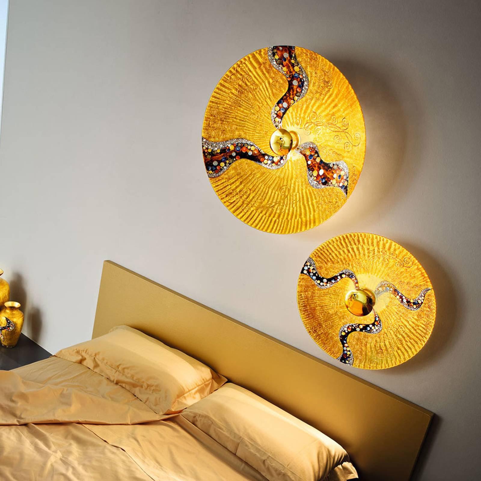 KOLARZ Luna Kiss Gold vegglampe 24 karat, Ø 89 cm