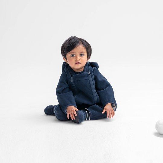 Vindfleecedress vannavvisende baby mørkblå
