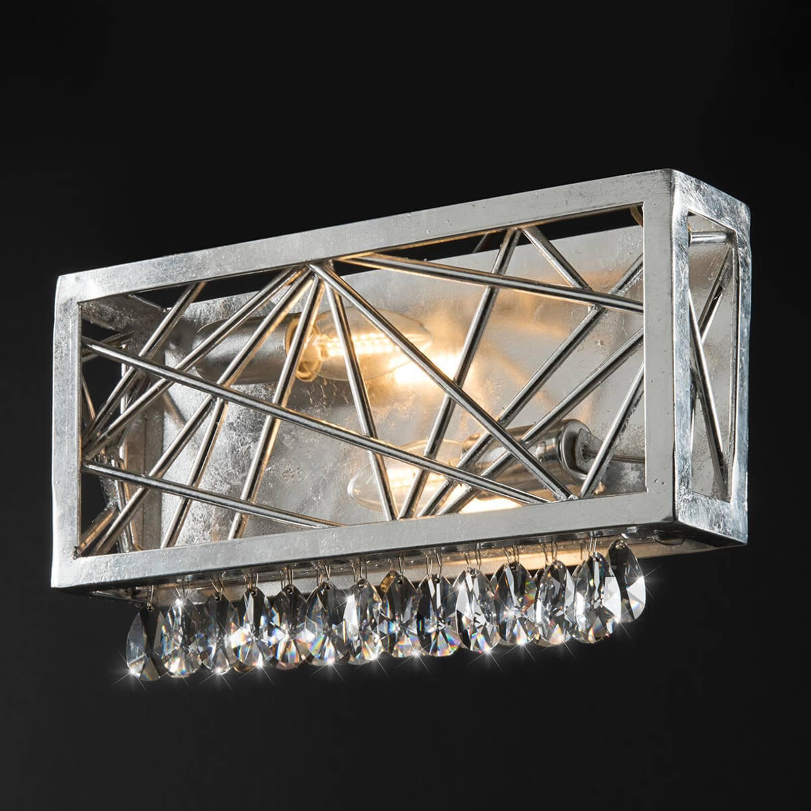 Krystallvegglampe Alice i sølv
