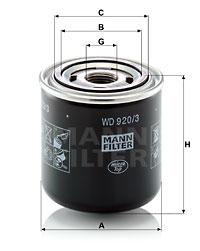 Hydrauliikkasuodatin, automaattivaihteisto MANN-FILTER WD 920/3