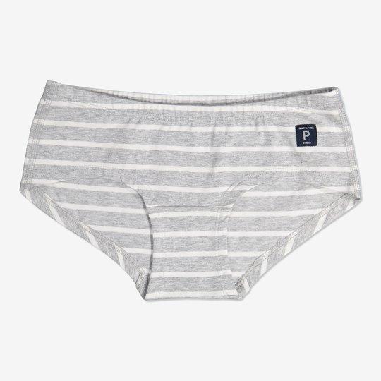 Stripet hipstertruse grå