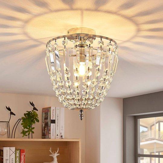 Strålende taklampe Lionello i glasskrystall