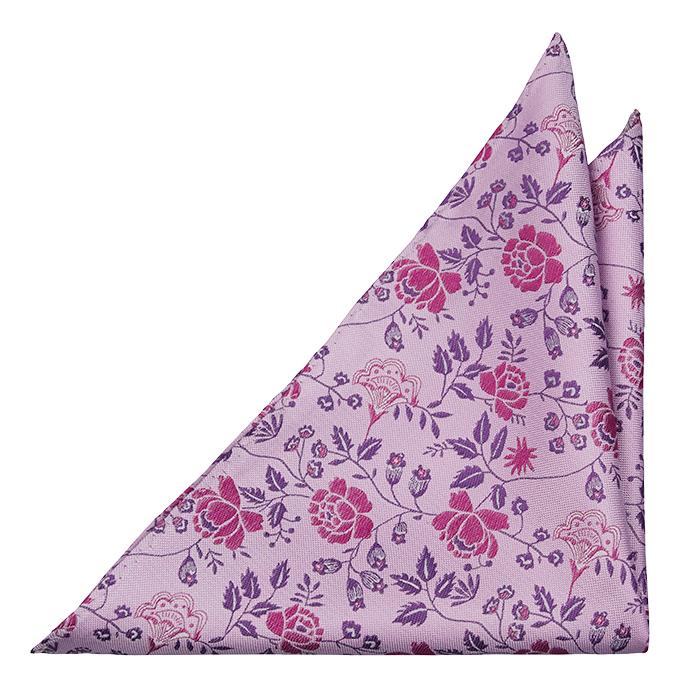 Silke Lommetørkler, Kunstnerisk rosa & lilla blomstermønster, Lilla, Blomster