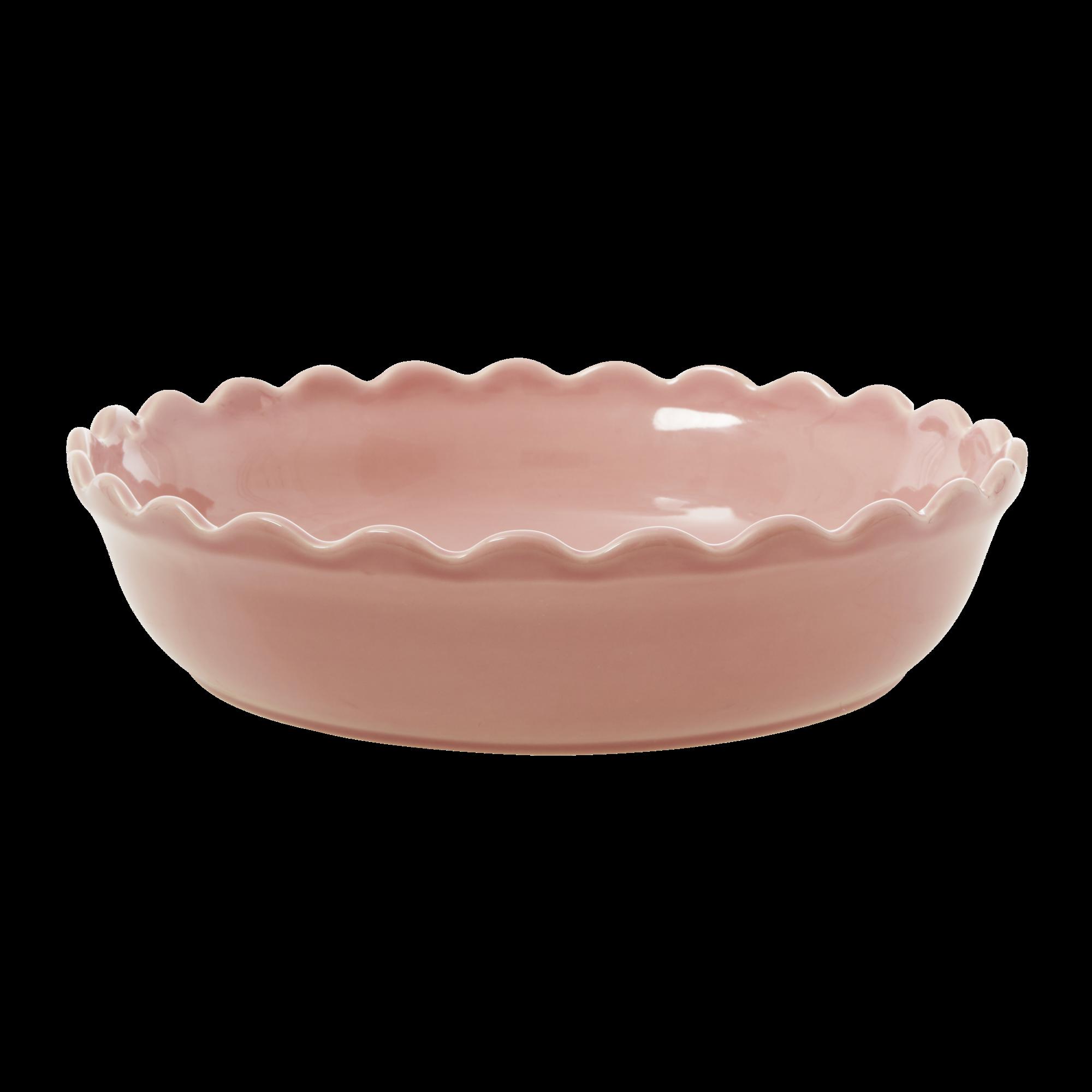 Rice - Stoneware Pie Dish - Pink L