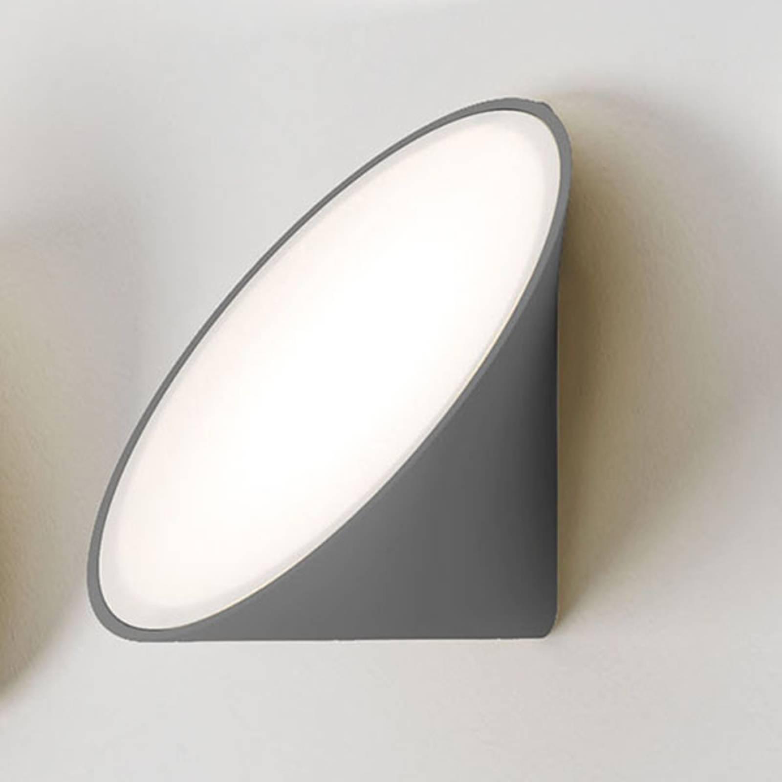 Axolight Orchid LED-seinävalaisin, tummanharmaa