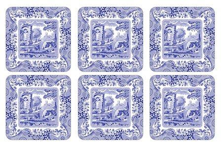 Blue Italian Glassunderlag 6-pakning