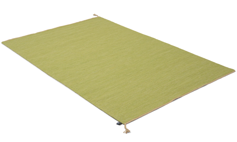 Sofiero lysegrønn - håndvevd ullteppe