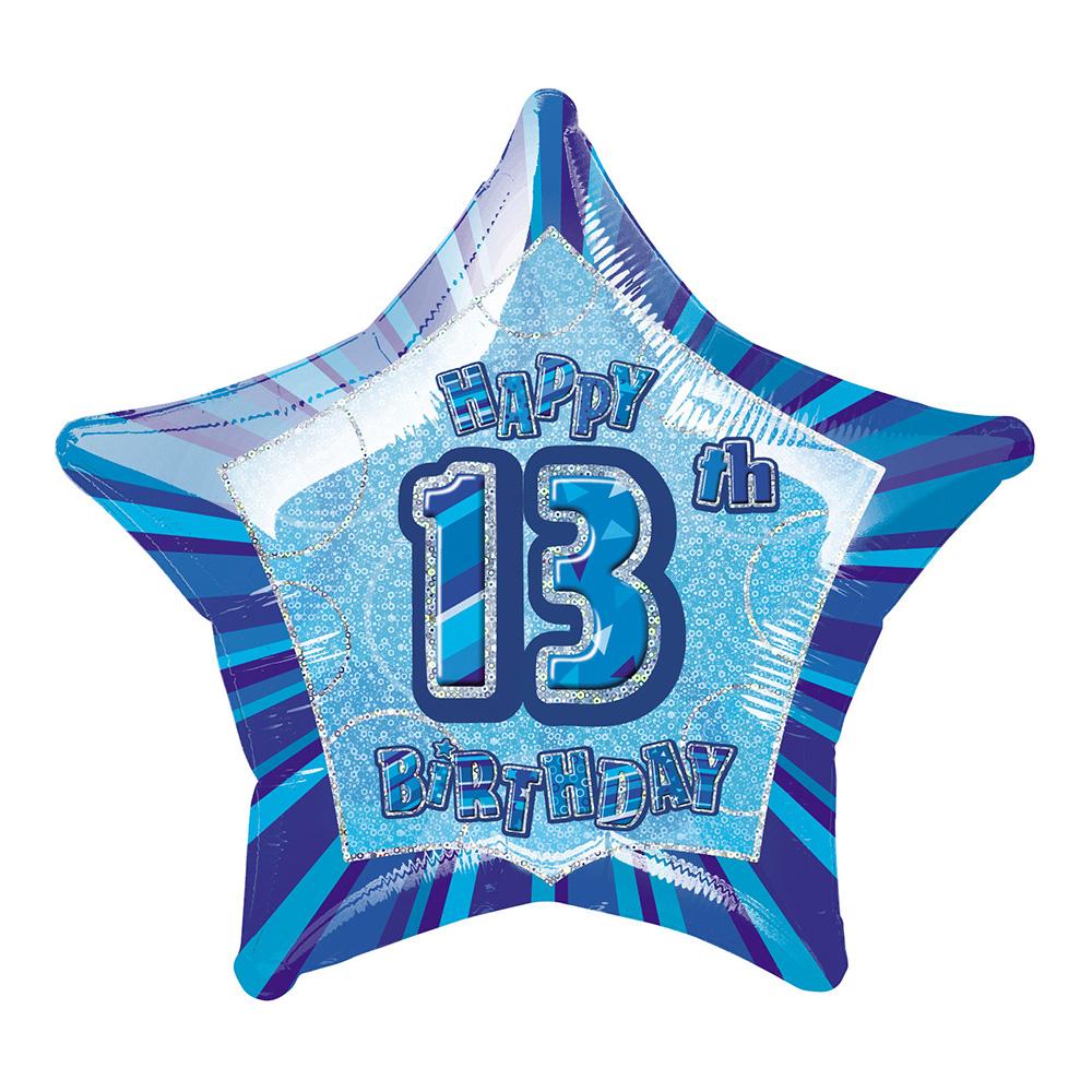 Folieballong Blå Stjärna 13