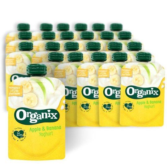 Luomuvälipala Jogurtti, Omena & Banaani - 65% alennus