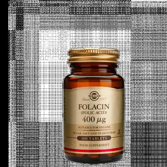 Folic Acid 400 mcg, 100 tabletter