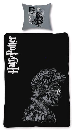 Bed Linen - Adult Size 140 x 200 cm - Glow in The Dark - Harry Potter (HP032-CS)