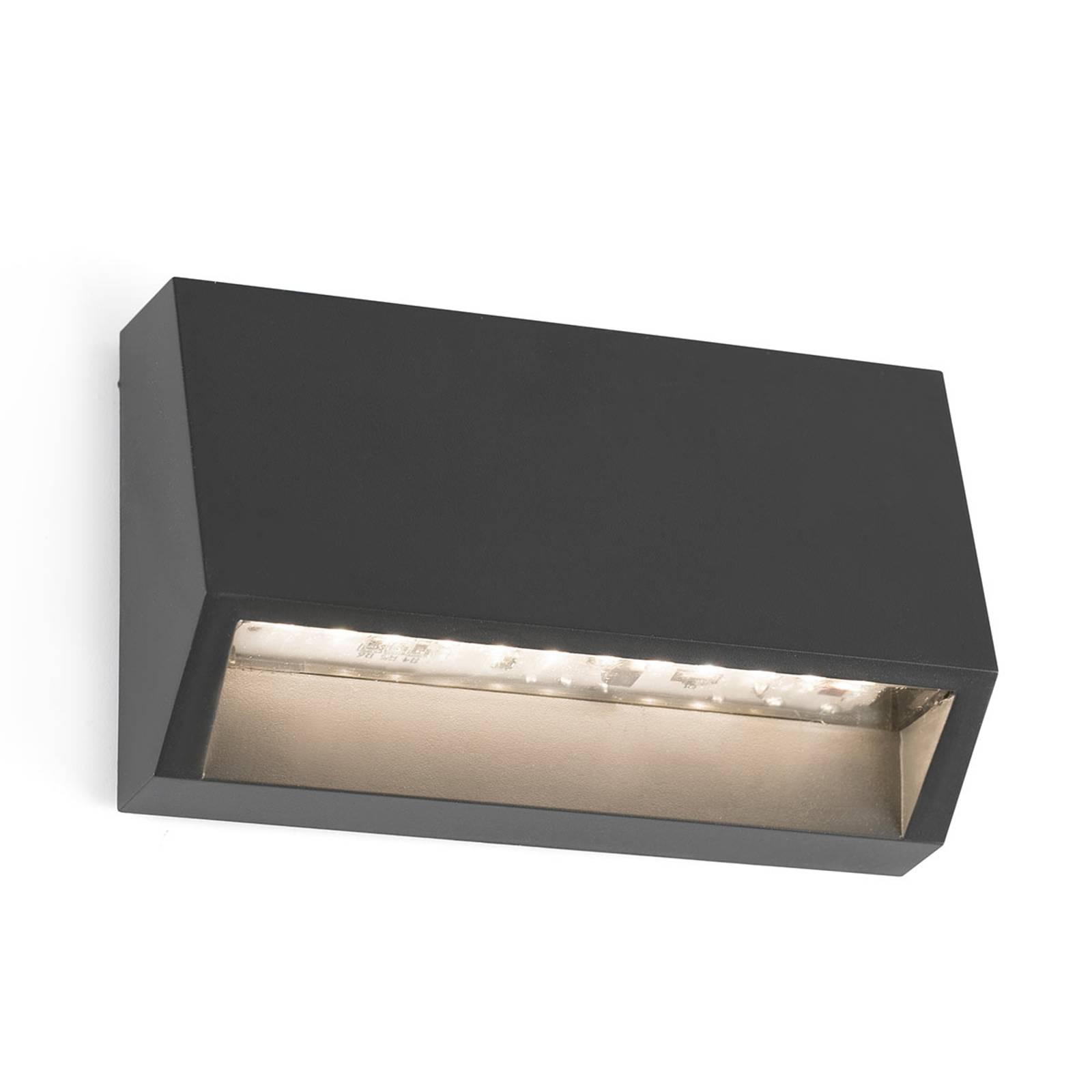 Kulmikas LED-ulkoseinälamppu Must - 9,6 cm
