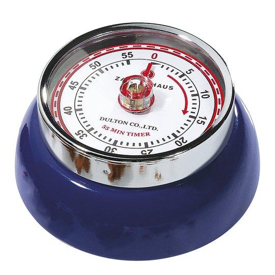 Zassenhaus - Retro Collection Timer med magnet Mörkblå