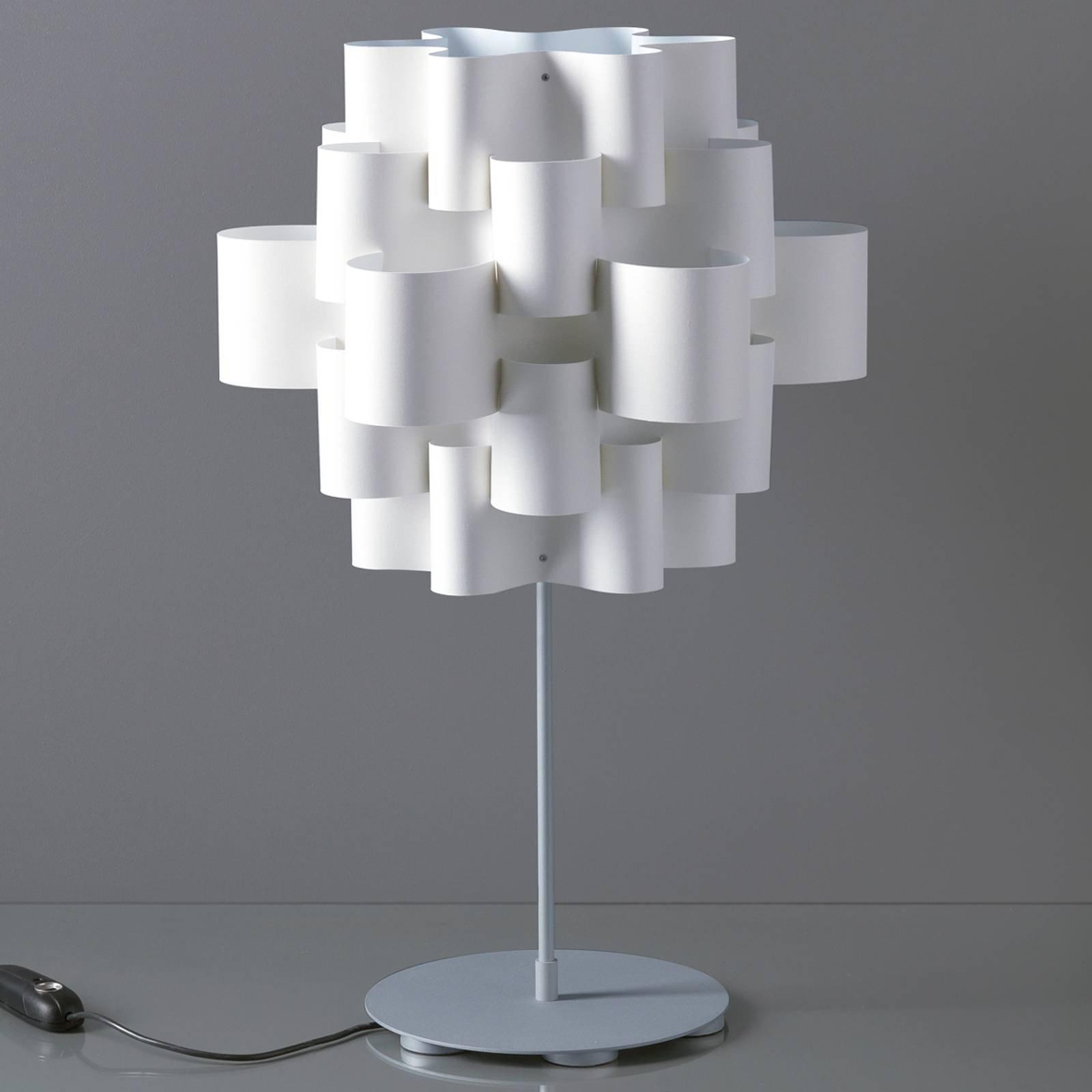 Designer-bordlampe Sun, hvit