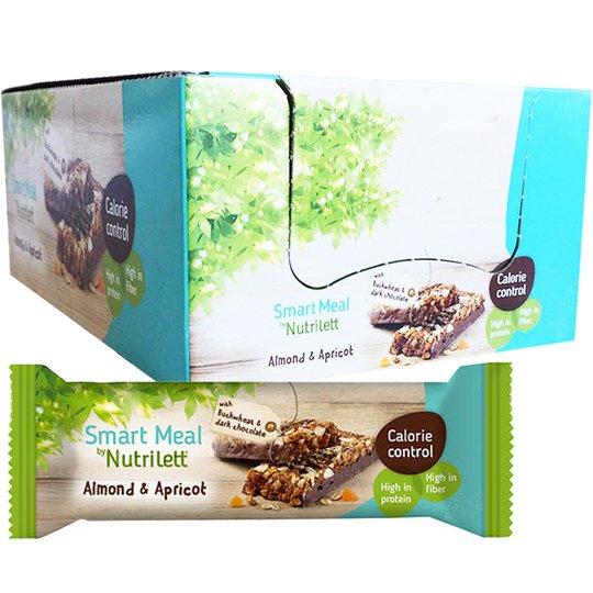 """Laatikollinen Ateriankorvikepatukoita """"Almond & Apricot"""" 20 x 56g - 28% alennus"""