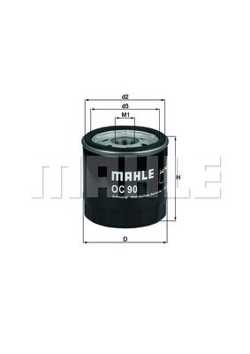 Öljynsuodatin MAHLE ORIGINAL OC 90 OF