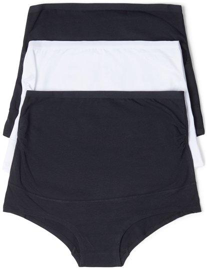 Milki Gravidtruse 3-pack, Black/White XS