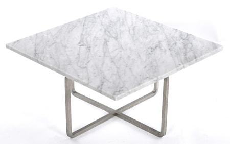 Ninety soffbord - Carrara/stomme rostfritt stål