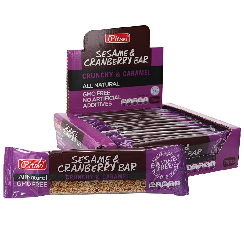 Crunchy Bar Sesam & Tranbär 15-pack - 42% rabatt