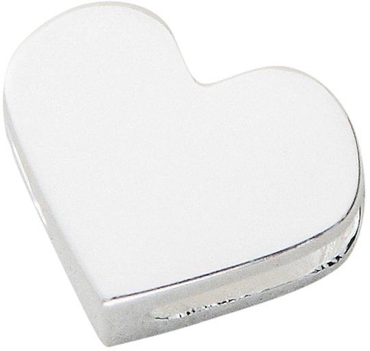 Design Letters Heart Charm, Sølv