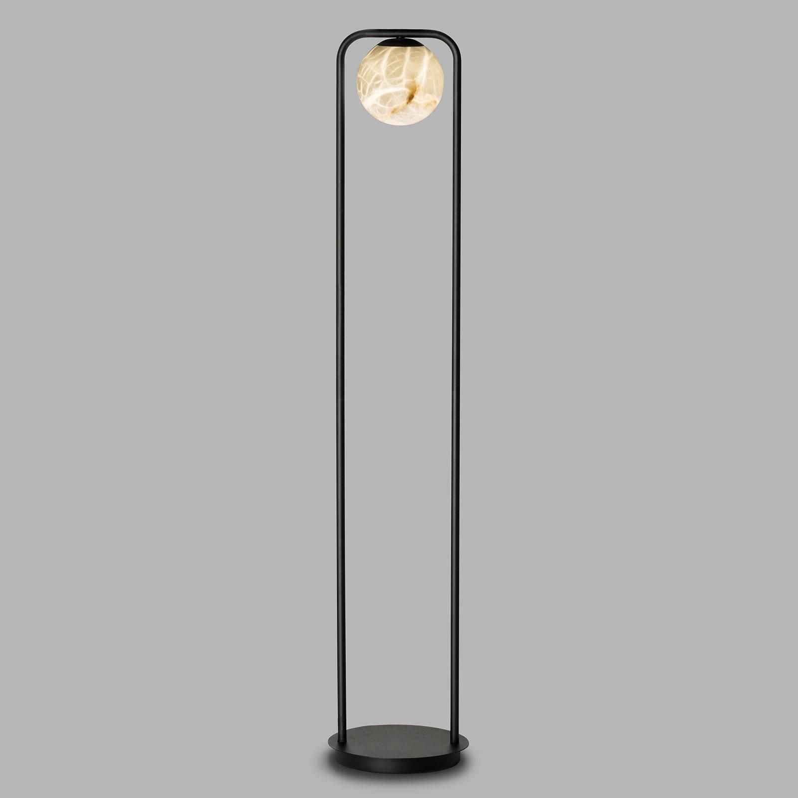 LED-gulvlampe Tribeca med alabast 1 lyskilde
