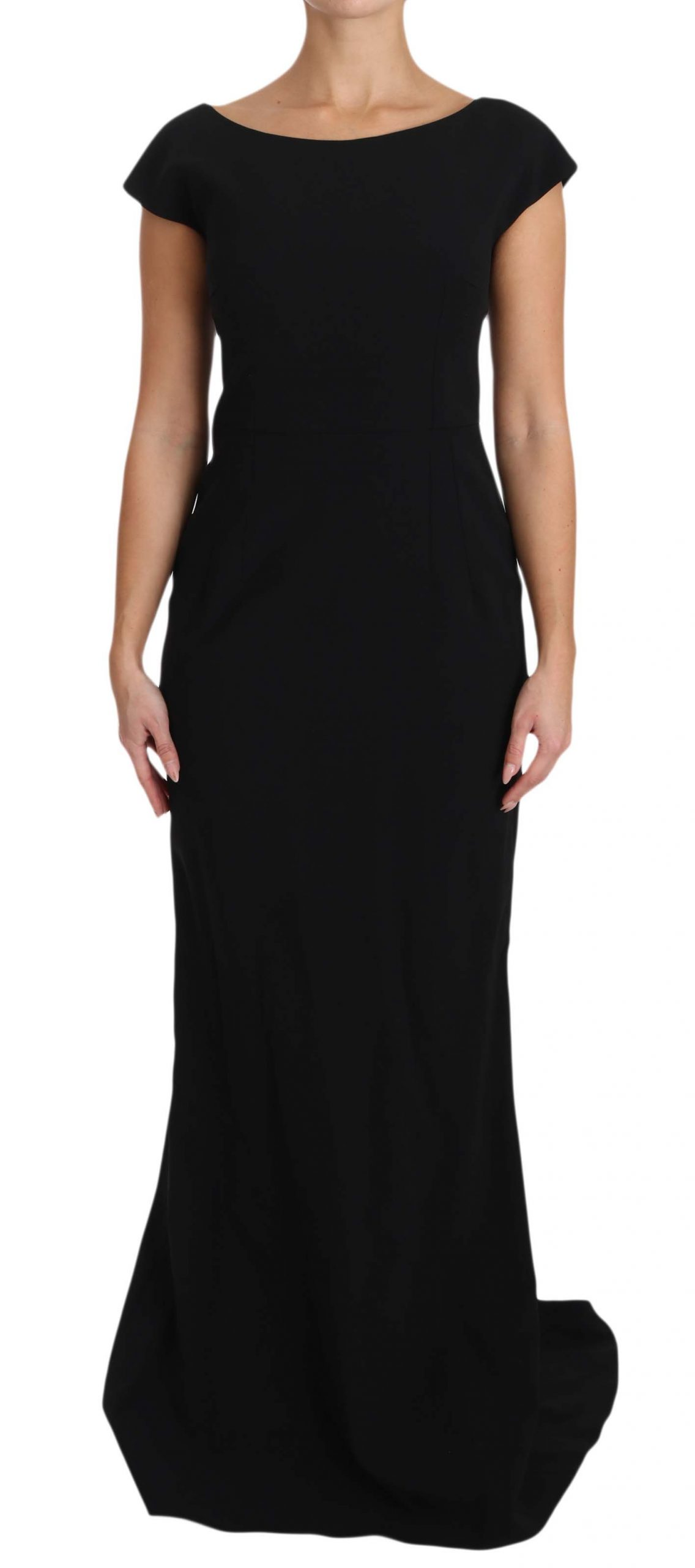 Dolce & Gabbana Women's Stretch Fit Flare Gown Black DR1599 - IT36 | XS