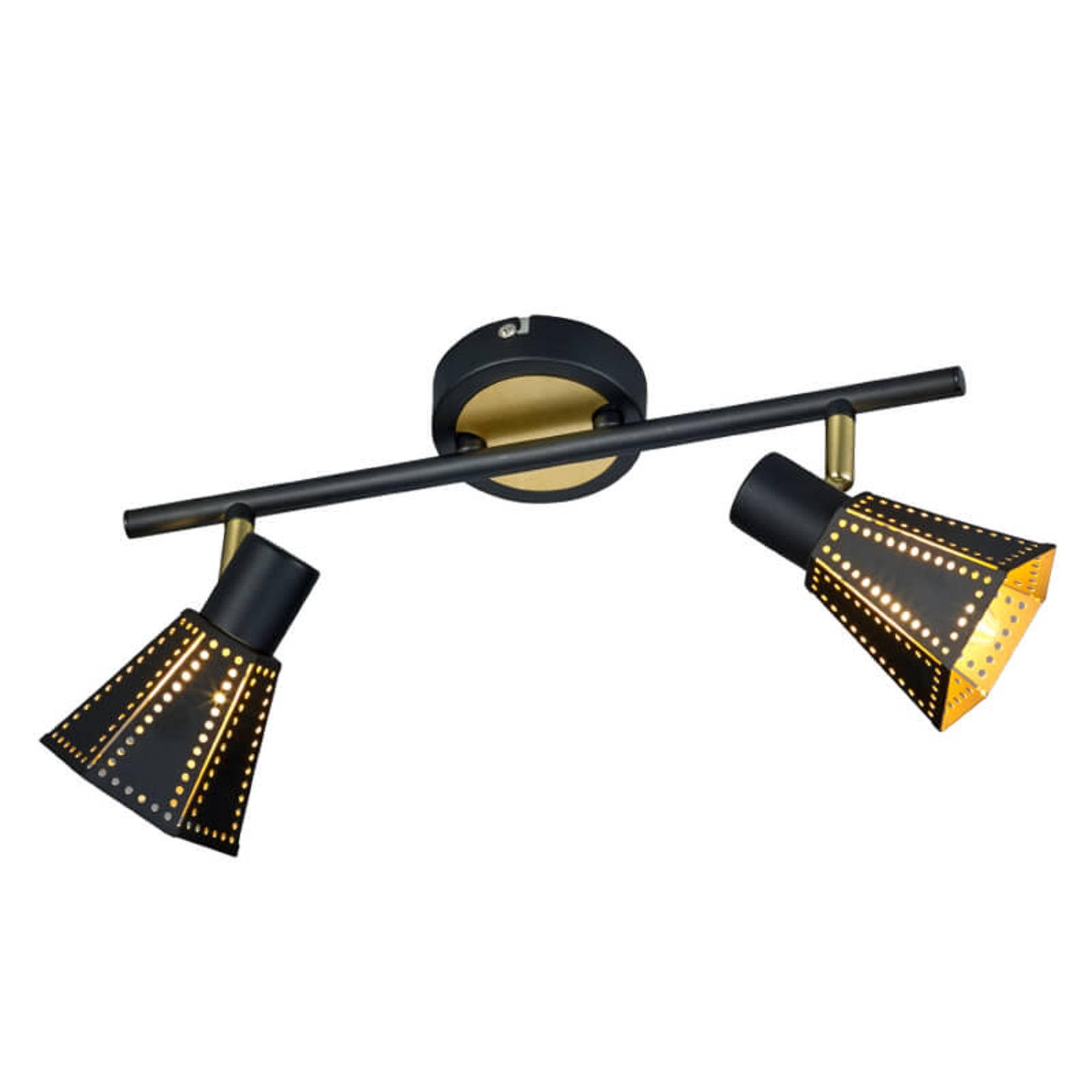 Houston - svart-gull taklampe