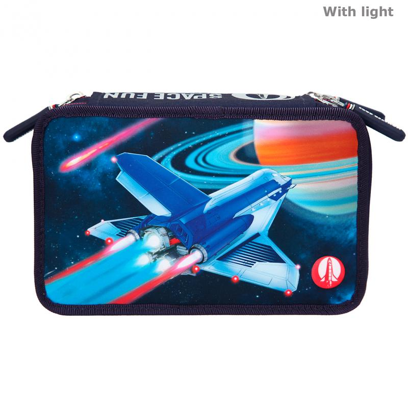 Monster Cars - Trippel Pencil Case w/LED - Spacefun (11287)