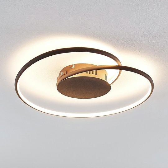 Lindby Joline LED-kattovalaisin, ruoste, 45 cm