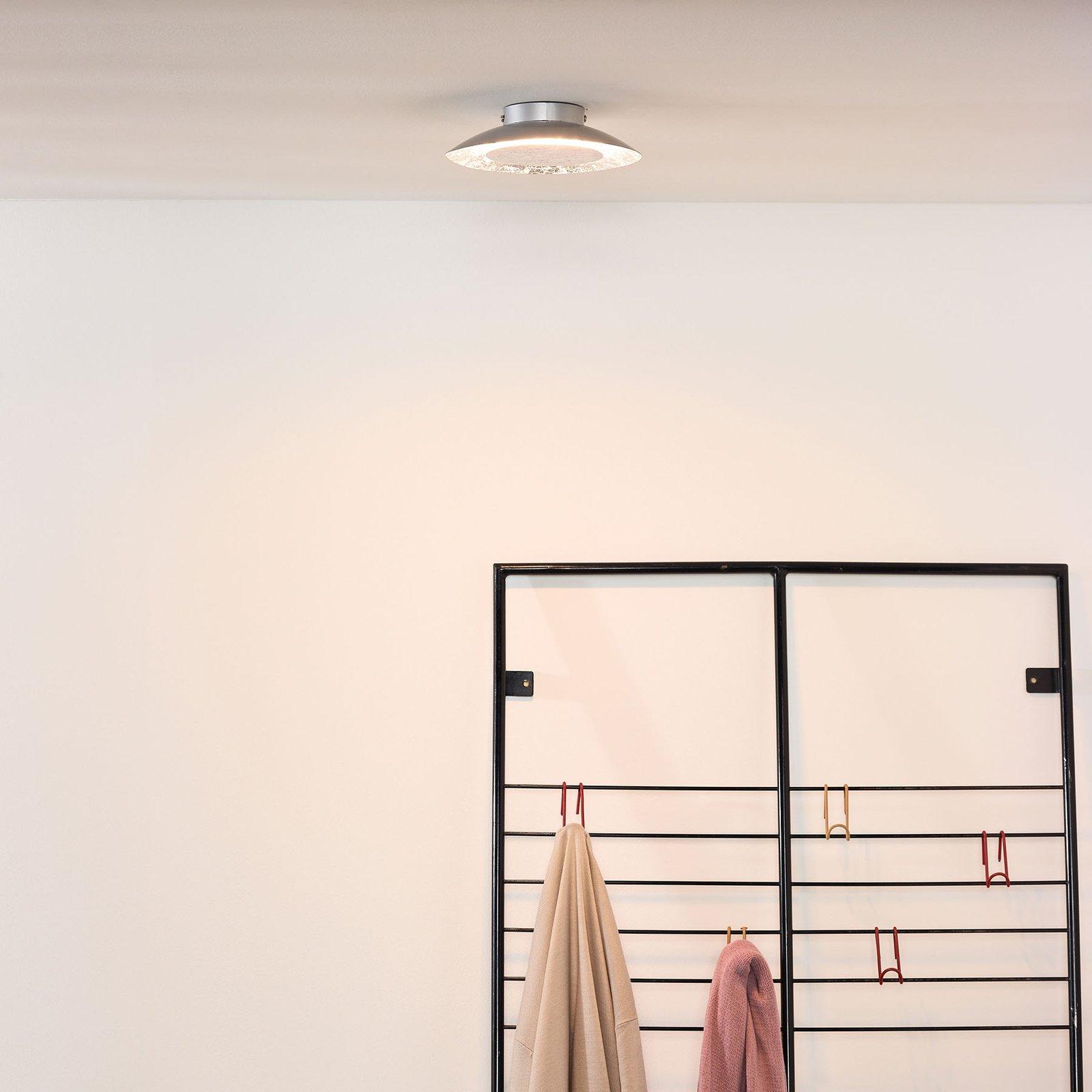 Foskal LED-taklampe sølv, Ø 21,5 cm