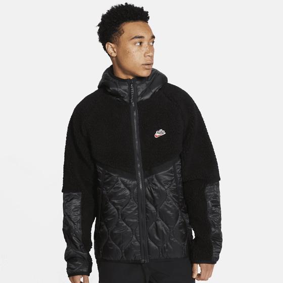 Nike M Nsw He Jkt Hd Insltd Winter Jackor BLACK/BLACK/PRO GR
