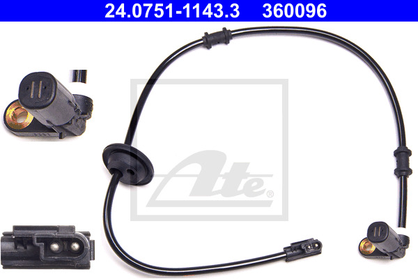 ABS-anturi ATE 24.0751-1143.3