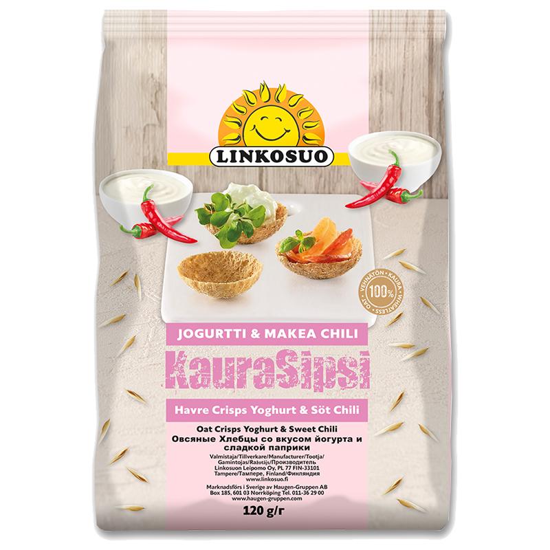 Snacks Havrecrisps Yoghurt & Söt Chili 120g - 40% rabatt