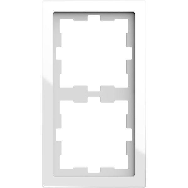 Schneider Electric MTN4020-6520 Yhdistelmäkehys 2 aukkoa, lasi Kristalli, valkoinen