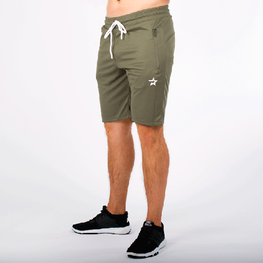 Star Mesh Shorts, Olive
