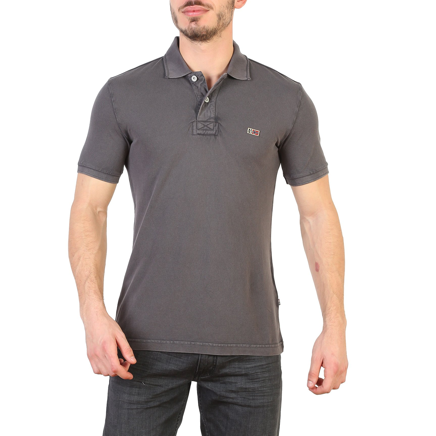 Napapijri Men's Polo Shirt Various Colours N0YHDX - grey S