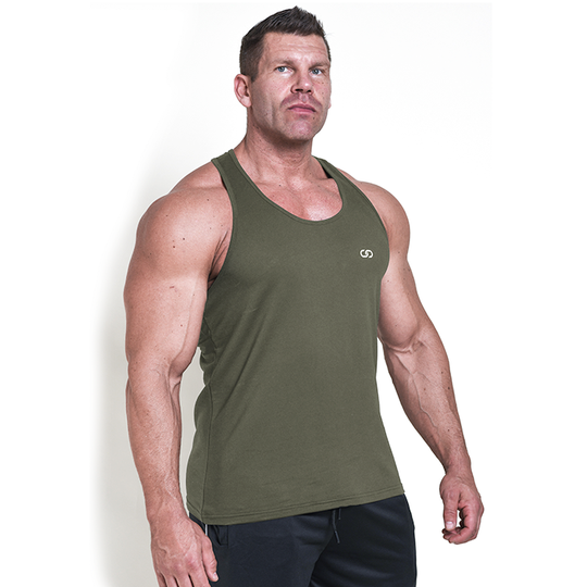 Chained Gym Stringer, Olive