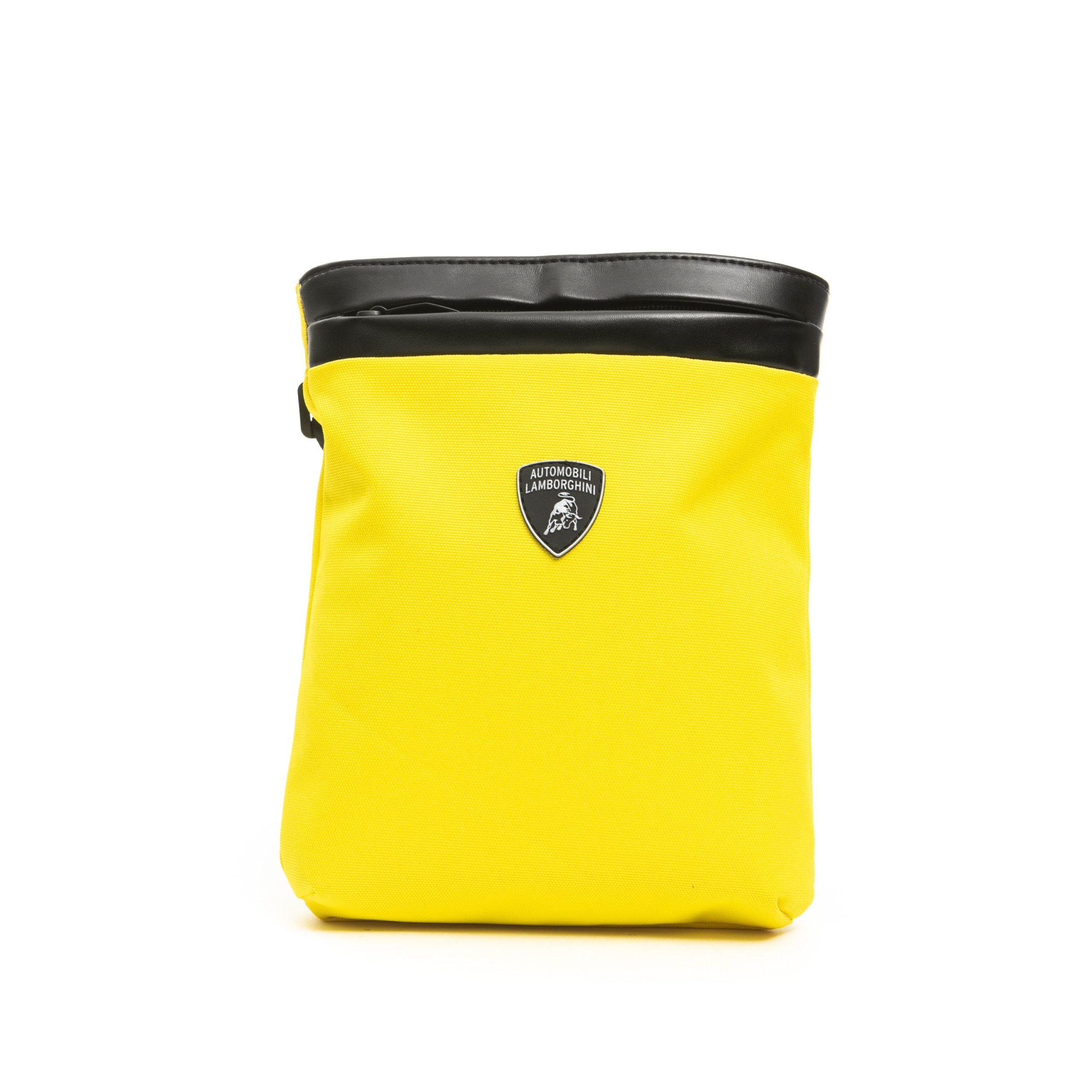 Lamborghini Men's Giallo Messenger Bag Yellow LA1265739