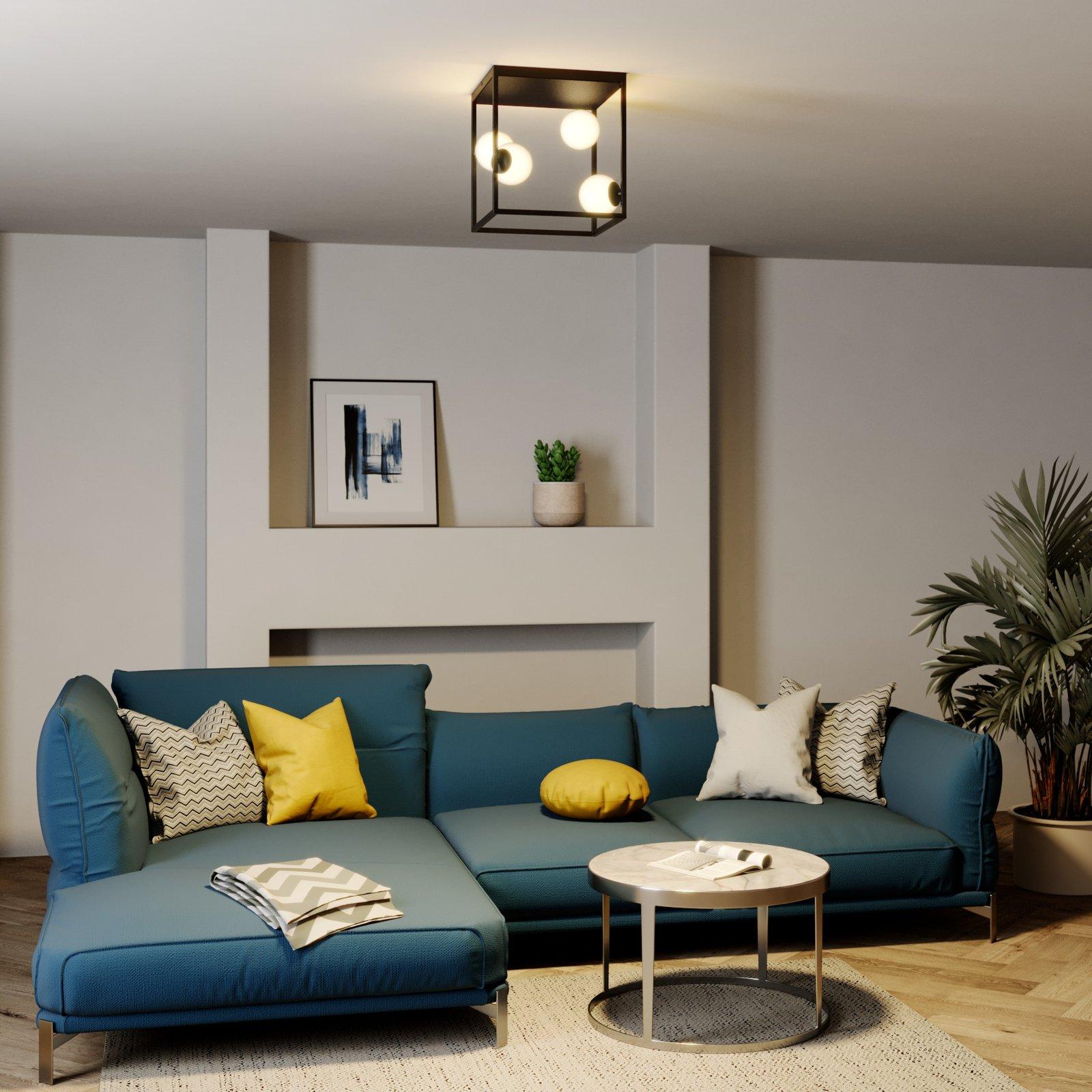 Lindby Utopia LED-taklampe, fire lyskilder