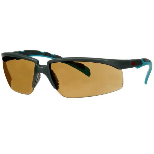 3M Solus 2000 Vernebriller Grå/blå-grønn brillestang, brun linse