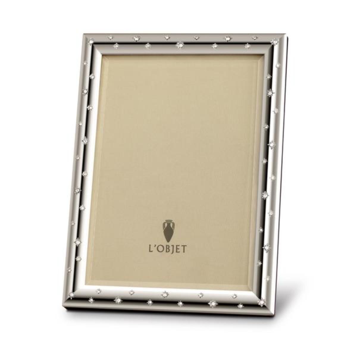L'Objet I Stars Frame Large I Platinum and white Crystals