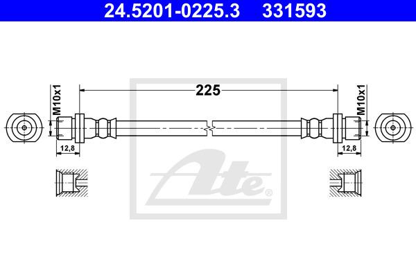 Jarruletku ATE 24.5201-0225.3