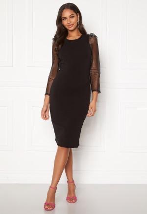 ONLY Maya L/S Midi Organza Dress Black XS